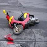 подросток столкнулся с автомобилем ДПС на скутере