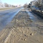Уборка снега Ставропольским способом